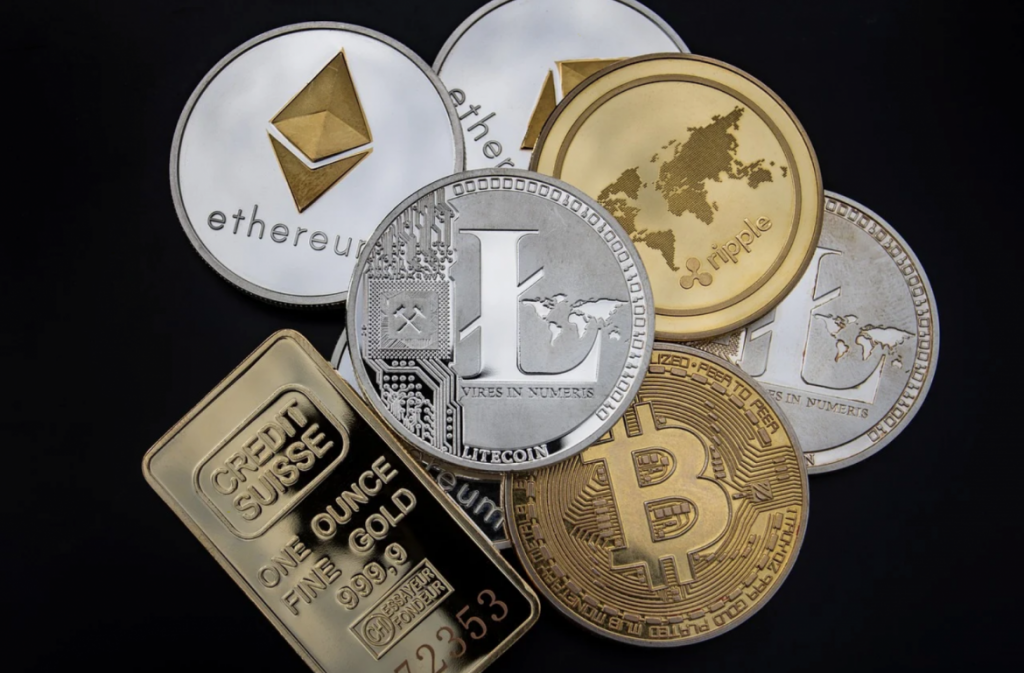 Bit coin sits amongst all the other alt coins